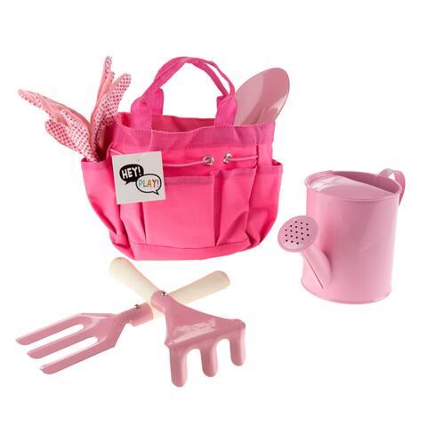 Kids' Gardening Tool Set with Canvas Bag