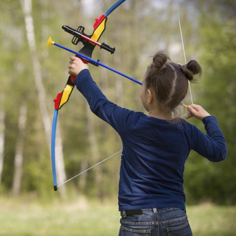 """Kids Bow and Arrow Set By Hey! Play! - Multicolor - 22"""" Bow"""