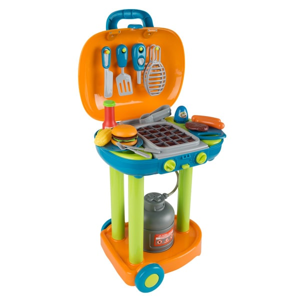 BBQ Grill Toy Set- Kids Dinner Playset - by Hey! Play!