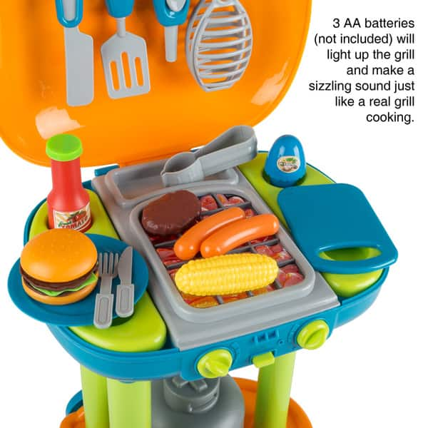 Bbq Grill Toy Set Kids Dinner Playset