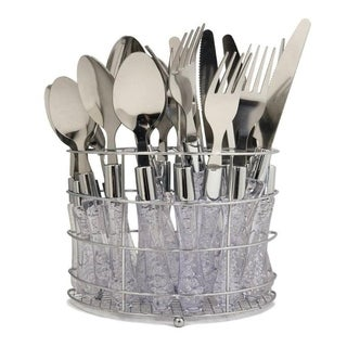 Wee's Beyond 5593-20 Cutlery Set with Chrome Rack 20 Pieces