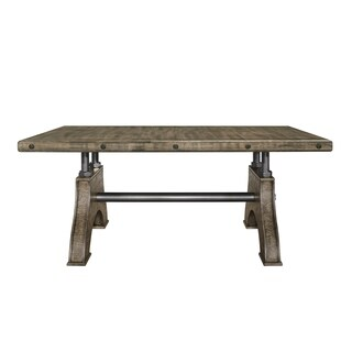 Global Furniture Work Bench Style Dining Table Brown