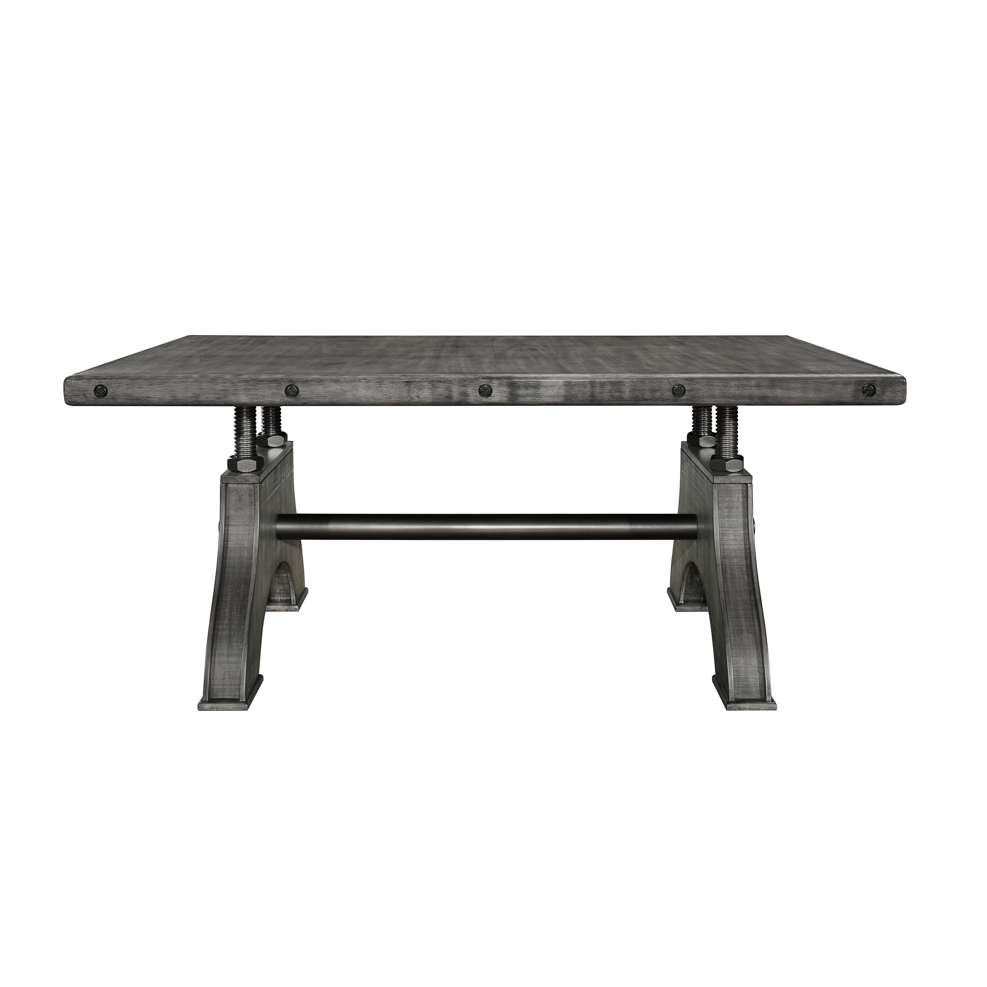 Swell Global Furniture Grey Washed Wood Work Bench Style Dining Table Pdpeps Interior Chair Design Pdpepsorg