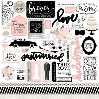 "Wedding Bliss Cardstock Stickers 12""X12"""