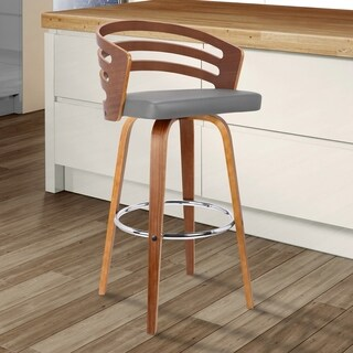"Armen living Jayden 30"" Mid-Century Swivel Bar Height Barstool"