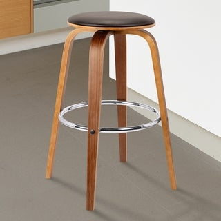 "Armen Living Harbor 26"" Mid-Century Swivel Counter Height Backless Barstool"