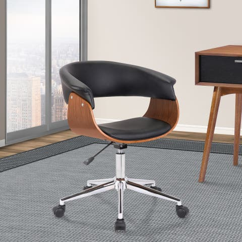 Armen Living Bellevue Mid-Century Office Chair