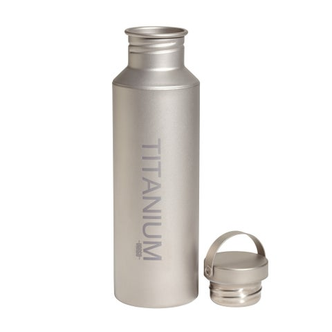 Vargo Titanium Water Bottle with Lid 650 ml
