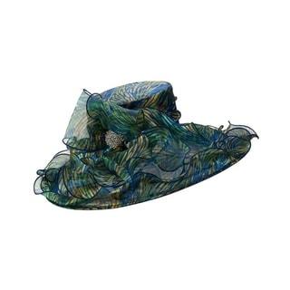 Giovanna Signature Women's Printed Organza Wide Brim Hat