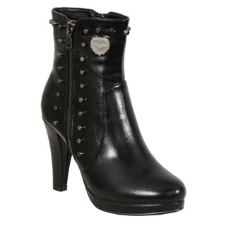 Ladies Spiked Side Entry High Heel Boot