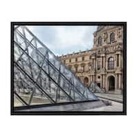 Sylvie Louvre Museum Paris, France Framed Canvas Art, Black 18 x 24