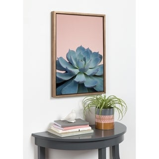 Sylvie Botanical, Succulent Framed Canvas Wall Art, Gold 18 x 24