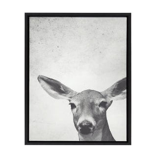 Sylvie Female Framed Canvas Wall Art, Black 18 x 24