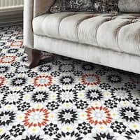Semara 8 x 8 inch handmade cement tile in Multicolor (Pack of 12)