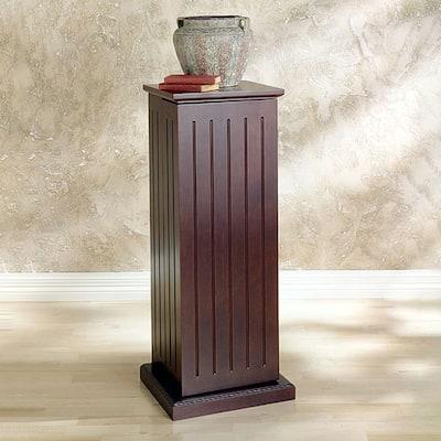 SEI Furniture Dark Cherry Media Storage Pedestal