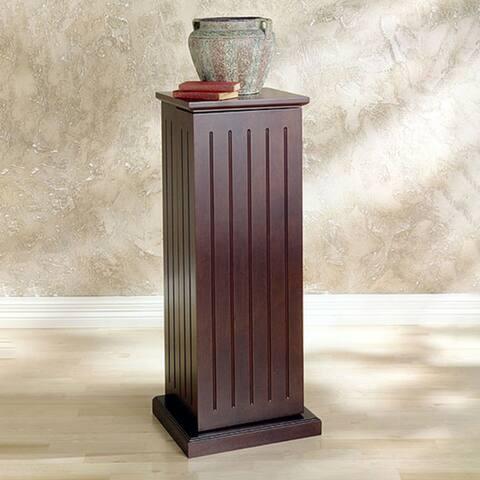 Dark Cherry Media Storage Pedestal