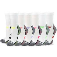 TeeHee Viscose from Bamboo Diabetic Sports Cushion Crew Socks 6-Pack (10-13, Assorted)