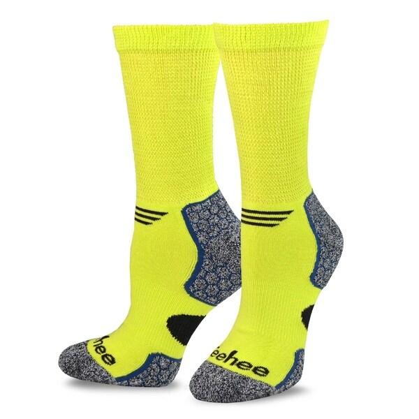 TeeHee Viscose from Bamboo Diabetic Sports Cushion Crew Socks 6-Pack