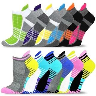 Teehee Women Cushioned Low Cut Socks 12-Pack