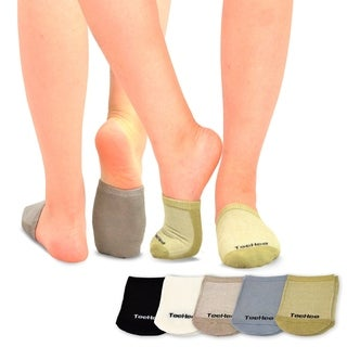 TeeHee Womens Bamboo Toe Topper Liner Socks 5-Pack