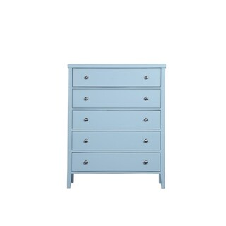 Emerald Home Home Decor III Blue and Blue Standard chest