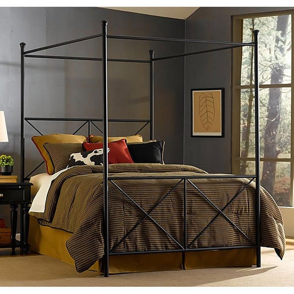 Excel Queen Size Canopy Bed Free Shipping Today