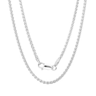 Sterling Essentials Italian Silver 1.5 mm Wheat Chain (16-24 Inch)