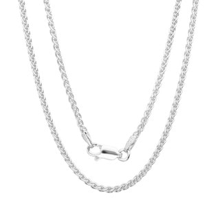 Sterling Essentials Sterling Silver 20-inch Italian Wheat Chain (1.5mm) - White