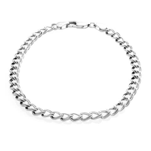 Sterling Silver Classic Charm Bracelet ( 7-8 Inch )