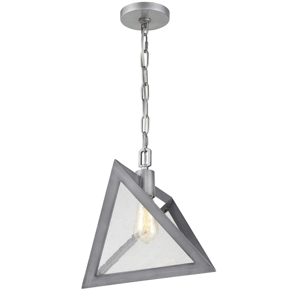 Rogue Decor Overrule 1-light Brushed Silver Coffee Bronze Triangular Pendant