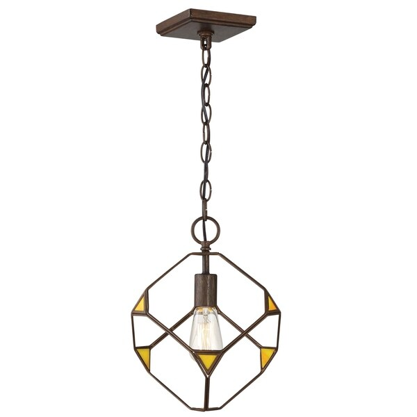 Rogue Decor Cubert 1-light Rustic Bronze Pendant - Brown