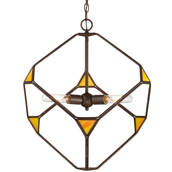 Rogue Decor Cubert 3-light Rustic Bronze Pendant - Brown
