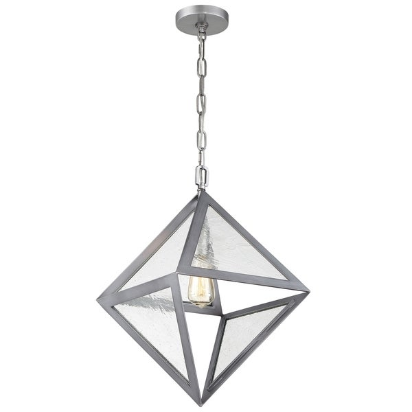 Rogue Decor Overrule 1-light Brushed Silver Coffee Bronze Diamond Pendant