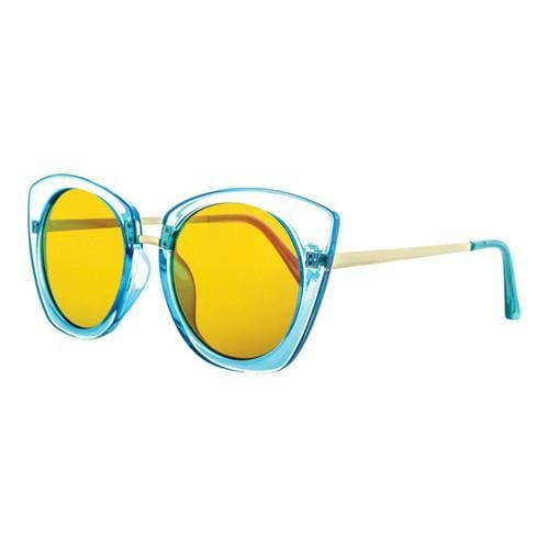 486ca81f24193 Shop Women s SWG Double Bridge Aviator Sunglasses SWGSS6897CRYRV Blue Gold  - Free Shipping On Orders Over  45 - Overstock.com - 18013741