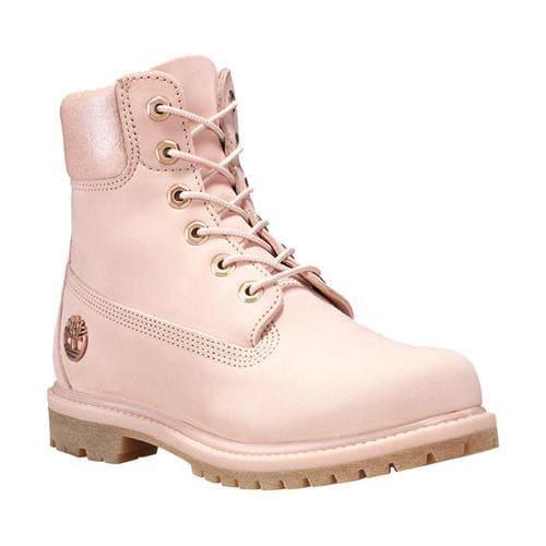 Women  x27 s Timberland Earthkeepers 6in Premium Boot Light Pink  Nubuck Metallic Collar 6ffa2c1352