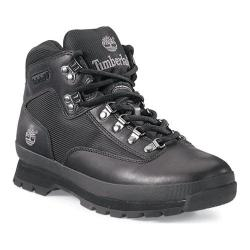Men's Timberland Euro Hiker Fabric/Leather Black Smooth