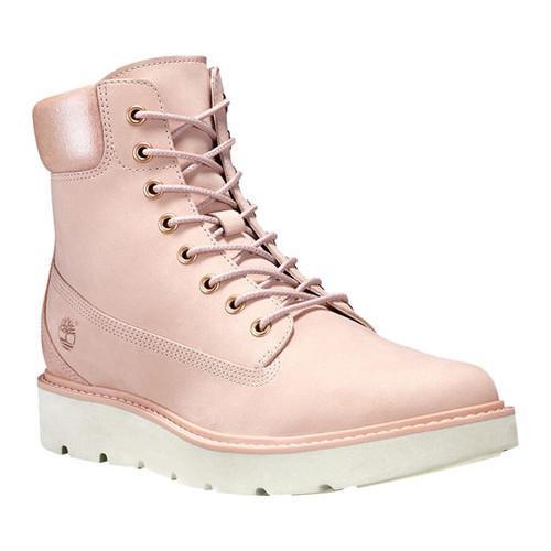 Shop Women s Timberland Kenniston 6in Lace Up Boot Light Pink  Nubuck Metallic Collar - Free Shipping Today - Overstock - 18013835 2390cc96158c