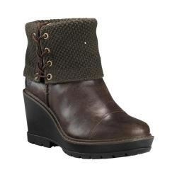 e0f0d3a9f Women's Timberland Kellis Mid Fold Down Wedge Boot Olive Full Grain Leather