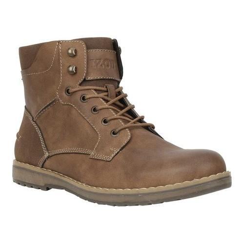 Men's IZOD Leon Boot Dark Tan Chicago Manmade