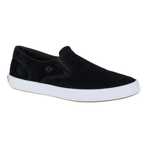 Men's Sperry Top-Sider Wahoo Slip On Sneaker Black Suede