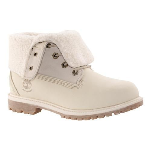 8bf6cd0e1c Shop Women's Timberland Authentics Teddy Fleece Waterproof Fold-Down Boot  Winter White Nubuck - Ships To Canada - Overstock - 18021277