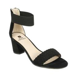 Women's White Mountain Eryn Ankle Strap Sandal Black Suedette (More options available)