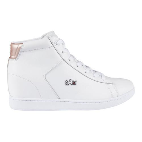 14bc05755 Shop Women s Lacoste Carnaby EVO Wedge 3 High Top White Synthetic - Free  Shipping Today - Overstock - 18027469