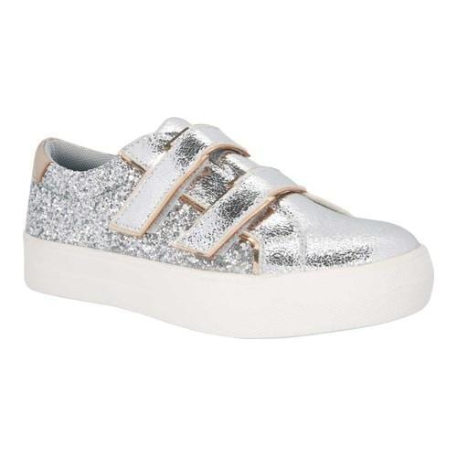 d9b233e331ee Shop Girls' Nina Ashly Sneaker Silver Metallic/Silver Glitter Synthetic -  Free Shipping Today - Overstock - 18027494