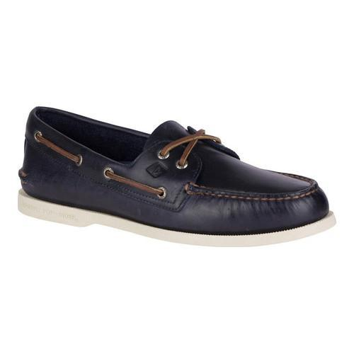 2ab351fbf65 Shop Men s Sperry Top-Sider Authentic Original Boat Shoe Navy Orleans  Leather - Free Shipping Today - Overstock - 18004972