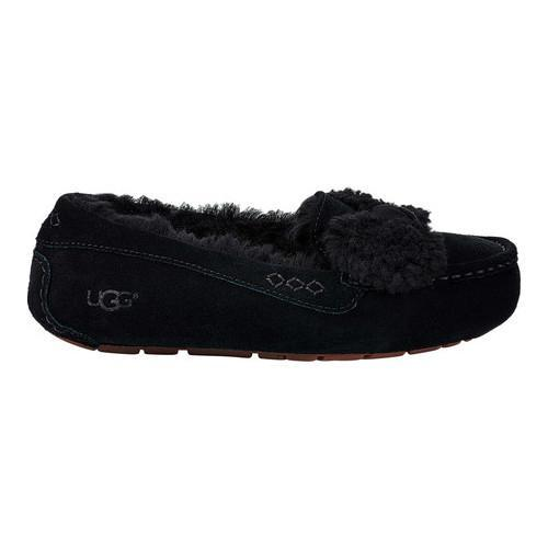 9eb6574782e Women's UGG Ansley Fur Bow Loafer Black Suede