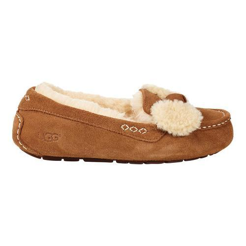 74a26c9695a Women's UGG Ansley Fur Bow Loafer Chestnut Suede