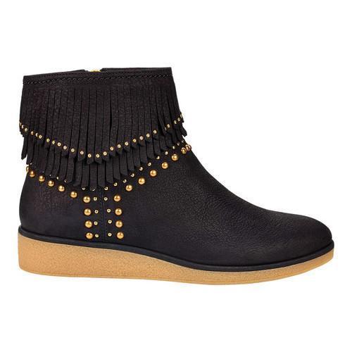 cc5b195c90f2 Shop Women s UGG Ariane Fringe Bootie Black Nubuck - Free Shipping Today -  Overstock - 18027617
