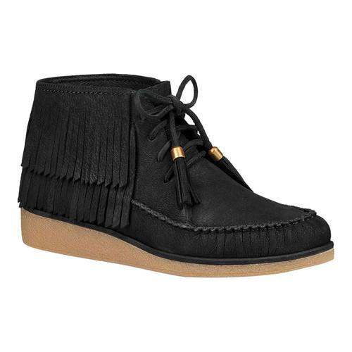 ffc0cccbdcc1 Shop Women s UGG Caleb Fringe Boot Black Nubuck - Free Shipping Today -  Overstock - 18027642