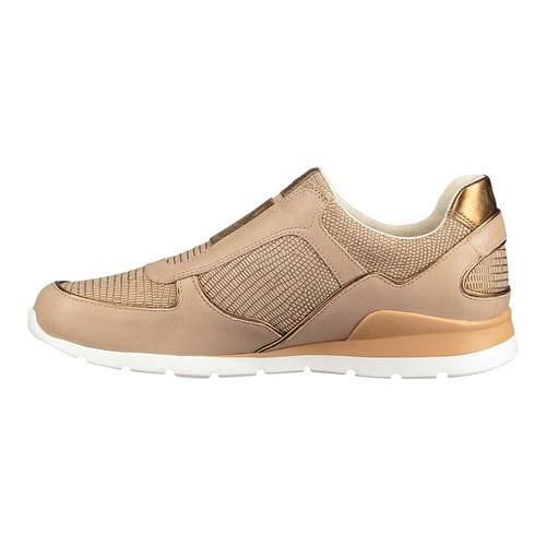 235fde47f60 Women's UGG Annetta Sneaker Dark Gold Metallic Embossed Leather/Suede